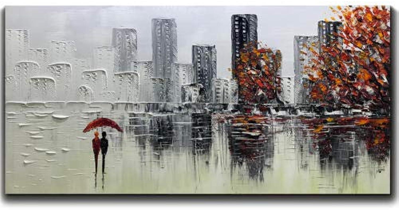 punto de venta de la marca YAOUAPT Pintado A Mano Abstracto Pintura Pintura Pintura Al óleo Paisaje Sala De EEstrella Parojo Decoración del Hogar Pintura 50X100Cm  barato y de moda