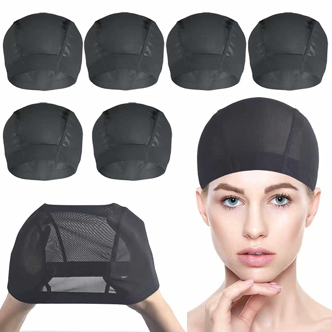 6 PACK Wig Caps unisex for Mesh Many popular brands Making Stretchable Dome -