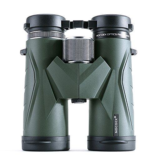 NOCOEX Binocolo Compatto, Con Ampia Visione di 10x42, Scelta Migliore per Professionale Bird Watching, Arrampicata, Viaggi, Giochi, Concerti, Adatto per lo Sport e le Attività all'aria Aperta (green)
