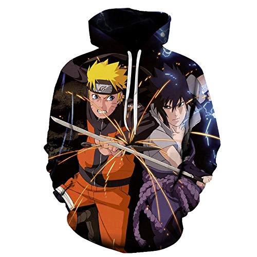 LIGUIHONG Naruto Hoodies Hombres / Mujeres Sudadera con Estampado 3D Hoody Coats-S_Hywy-36