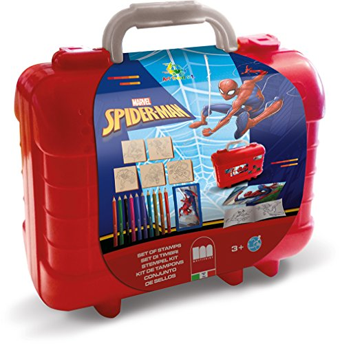 Multiprint Travel Set valigetta in plastica Spiderman - Juegos de Sellos para niños (Multicolor, Niño, 3 año(s), Spiderman, 230 mm, 105 mm)