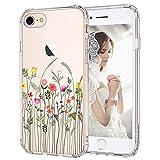 MOSNOVO iPhone SE 2020, iPhone 8 Hülle, iPhone 7 Hülle, Wildblume Blume Muster TPU Bumper mit Plastik Hülle Durchsichtig Schutzhülle Transparent für iPhone 7 / iPhone 8 / iPhone SE 2020 (Wildflower)