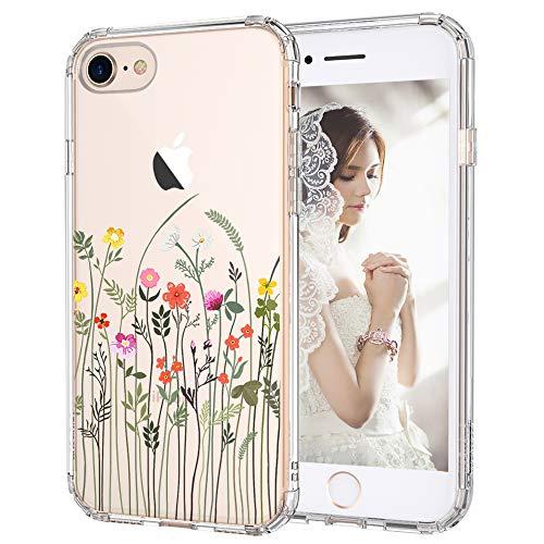 MOSNOVO Cover iPhone SE 2020/iPhone 8/iPhone 7, Fiore di Campo Fiori Trasparente con Disegni TPU Bumper con Protettiva Custodia Posteriore per iPhone 7/iPhone 8/iPhone SE 2020 (Little Wildflower)