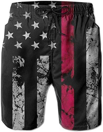 Pantalones Cortos de Playa de Surf de Verano con Estampado gráfico de Bandera Nacional 3D para Hombre con Bolsillo 26 L