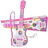 Shayson Guitare Enfant,4 Cordes Guitare Electrique Enfant Jouet Guitare Instrument de Musique éducatifs pour Débutant Enfant Garcon Fille de 3+ Ans