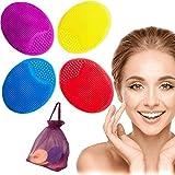 Cepillo Limpieza Facial Exfoliante 4X Piel Sensible Regalo Bolsa Masajeador Limpiador Suave Depurador Se Silicona Antiedad Cuidado Delicado