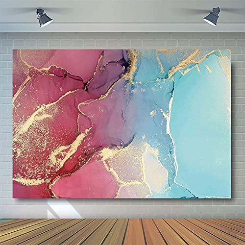 HSLINU Fondo de fotografía de mármol para sesión de Fotos Accesorios de Cabina de Fotos Baby Shower cumpleaños Fondo Tela de Vinilo Resistente a Las Arrugas (Color : Pink3, Size : 8x8ft)
