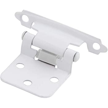 Amerock BPR3429-W White Face Mount Self-Closing Variable Overlay Hinges 10 Pair Pack Amerock Corp BPR3429W