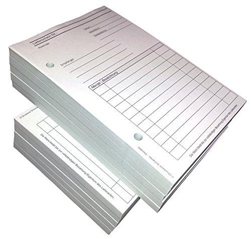 10x Lieferscheinblock Block Lieferschein DIN A5, 2-fach selbstdurchschreibend,2x50 Blatt weiß/grün - gelocht (22430)