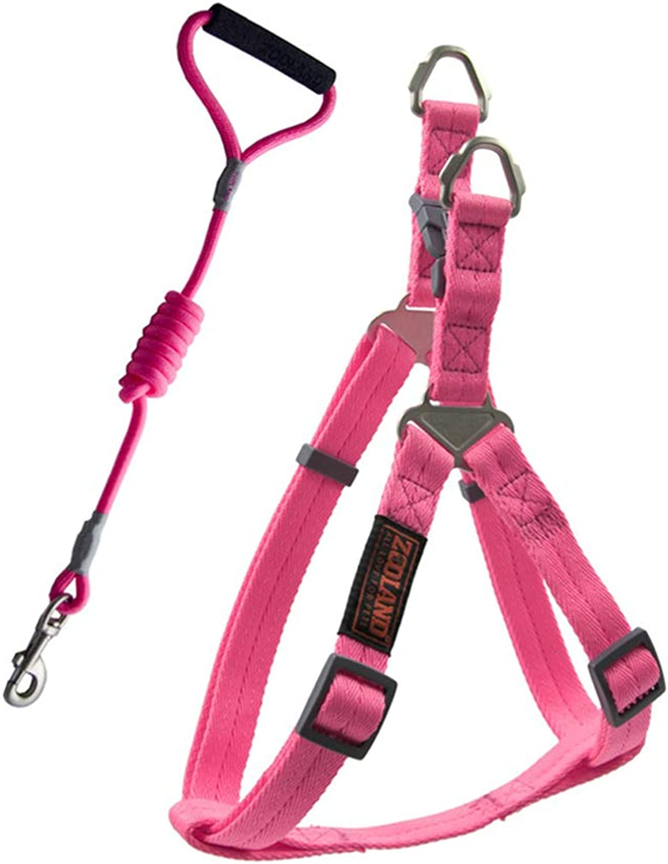 Pet Leash Dog Leash, Adjustable Vest Strap for Medium and Large Dog Chest Straps Dog Lead Chest Strap Set Send Rope (color   Pink, Size   M)