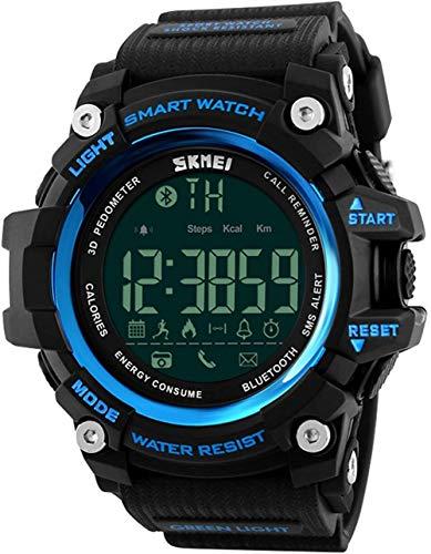男性のアウトドアスポーツのスマートウォッチファッションデジタル時計フィットネストラッカーBluetooth対応のiOS 4.0のAndroid防水腕時計