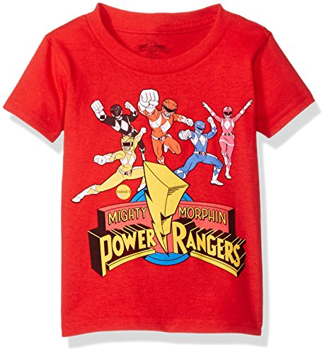 Power Rangers Little Boys' Toddler Short Sleeve T-Shirt, Red, 3T