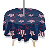 4th July Round Outdoor Tablecloth 60