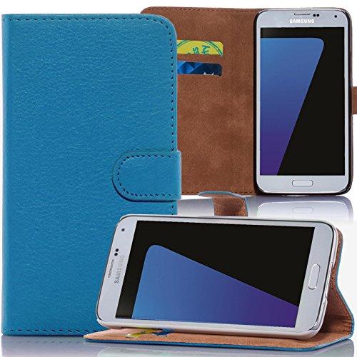 numerva HTC Desire 310 Hülle, Schutzhülle [Bookstyle Handytasche Standfunktion, Kartenfach] PU Leder Tasche für HTC Desire 310 Wallet Hülle [Hellblau]