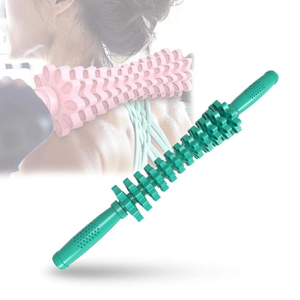 壊す腸順応性フォームローラー 筋肉マッサージおよび筋筋膜のトリガーポイント解放のためのギヤマッサージャーの取り外し可能なポリ塩化ビニールの快適な滑り止め