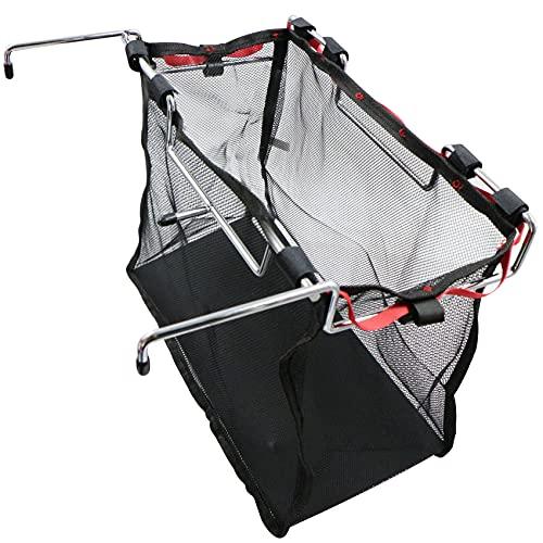 Cesta de pícnic cesta de la compra plegable, para camping al aire libre organizador para colgar – Bolsa de rejilla portátil y organizable bolsa para herramientas de barbacoa, color negro