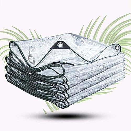 ZHANGQINGXIU Lonas Impermeables Exterior,Lona Transparente De 0,5 Mm, Lona Impermeable Transparente Para Jardín, Película Impermeable, Anticongelante, Cubierta De Plástico De PVC, Toldo De Aislamiento