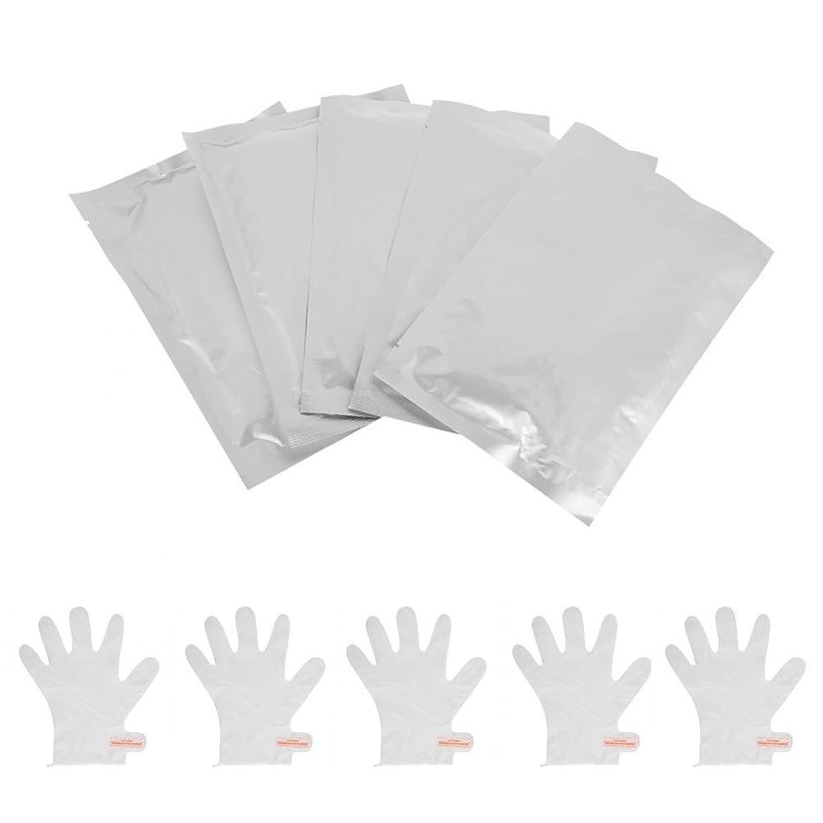 鮫パフデッキOchun ハンドマスク ハンドパック しっとり 保湿ケア 手荒れを防ぐ 乾燥の季節に適用 手袋のようにはめるだけ 10枚セット