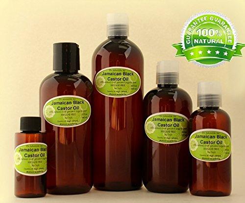 Aceite de ricino negro jamaicano natural puro orgánico fortalece el crecimiento y restaura el cuidado del cabello 2.2 oz/59 ml