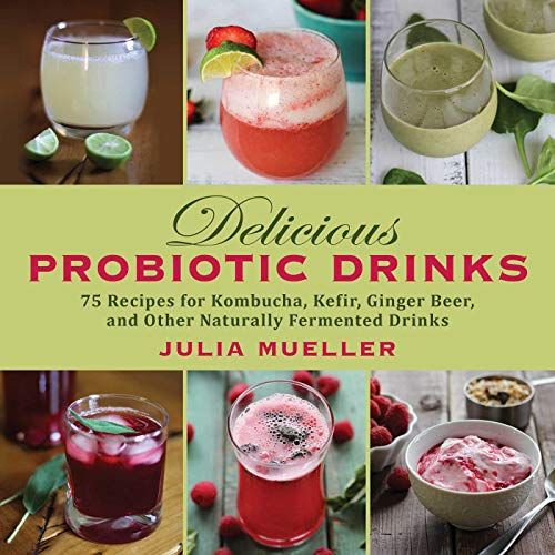 Delicious Probiotic Drinks: 75 Recipes for Kombucha, Kefir, Ginger Beer, and Other Naturally Fermented Drinks (English Edition)