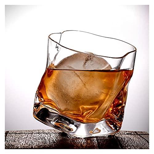 Vidrio de Vidrio de Vidrio Whisky Short Glass único Multi-Uso Multi-Uso Vino Decantador Japonés Bar Creativo Personalidad Whisky Cerveza Vidrio Beber Copa de Brandy 608 (Color : Gold Line)