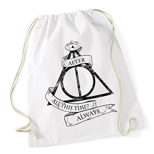bubbleshirt Sacca da Ginnastica Harry Potter - After all This Time? Always - Dimensioni: 36x46 cm