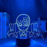 Luz De Ilusión 3D Luz De Noche Led Soul Eater Boy Anime Lámpara De Mesa Decoración De Dormitorio Sleep Boy Regalo De Cumpleaños Ambiente De Vacaciones