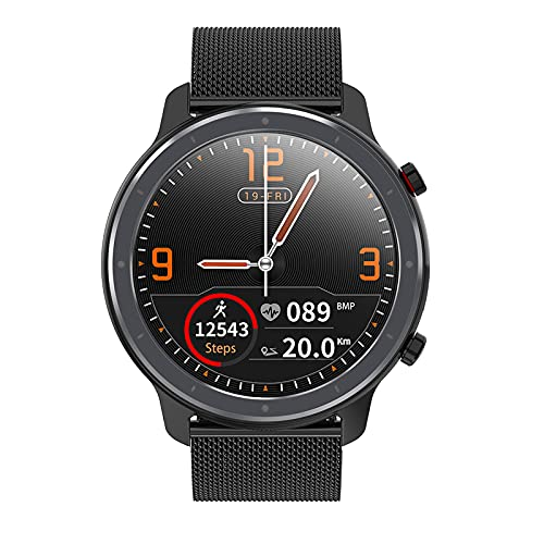 Voigoo Smartwatch, Relojes Inteligentes Hombre - Reloj Digital Caloría, Reloj Deportivo Hombre Pulsometro, Pulsera Actividad Inteligente, Reloj Inteligente Mujer para iOS Android e (2 Correas)