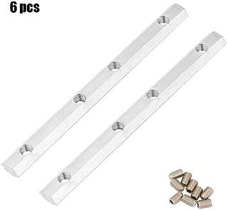 Perfil de aluminio, 2020/3030/4040/4545 Serie M5 M6 M8 UE Acero al carbono Conector interior recto Extremo de aluminio Perfil de extrusión(2020 M5 6pcs)