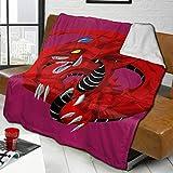 Ahdyr Mantas de Tiro con Estampado 3D Slifer The Sky Dragon Fleece Throw Blanket Suave y cálido para sofá Unisex Sofá Cama Mantas de Felpa 80 'x60' 3.57 LB