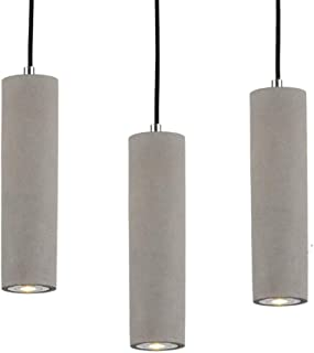 Hanging Pendant Lights LED Lighting lamp Kitchen Island Ceiling Light Shade Concrete Cement Fixtures Industrial Decor for Dining Room Coffee Club Resturant Bar Living Room (7x50cm / 2.7x19.6