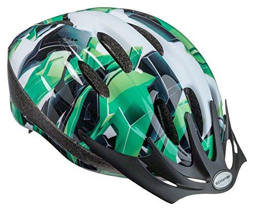 Schwinn Intercept Bike Helmet, Easy Adjustable Dial For Custom Fit, Youth, Green