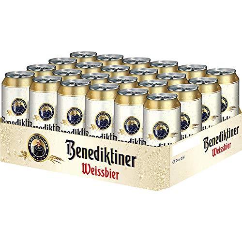 24 x cerveza benedictina blanca naturaleza nublada 0,5L lata 5,4% vol.alc. DESECHABLE