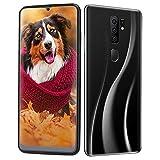 Pusokei 3G-Smartphone, 2+16G-Dual-Card-Smartphone, Android-Handy mit 6,7-Zoll-Touchscreen, Dual-HD-Schönheitskamera, Fingerabdruck- & Gesichtserkennung mit 128-GB-Speicherkarte(Schwarz)
