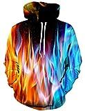 YAJOOEY Unisex 3D Galaxy Printing Hooded Sweatshirt Sweaters Hoodies XX-Large
