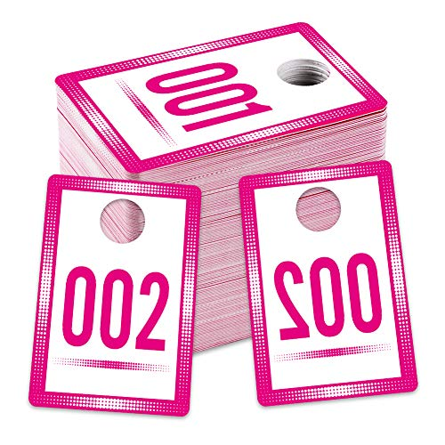 """SICOHOME Live Number Tags 1-100,1.7""""X 2.5"""" Live Number Cards with Normal and Reversed Mirrored Numbers"""