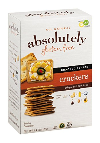 Absolutely Gluten Free Cracked Pepper Crackers, 4.4 Ounce - 12 per case.