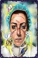 メタルサインヴィンテージ家の装飾看護師と天使 ブリキサインメタルプラーククールメタルプレートコーヒーメタルポスター