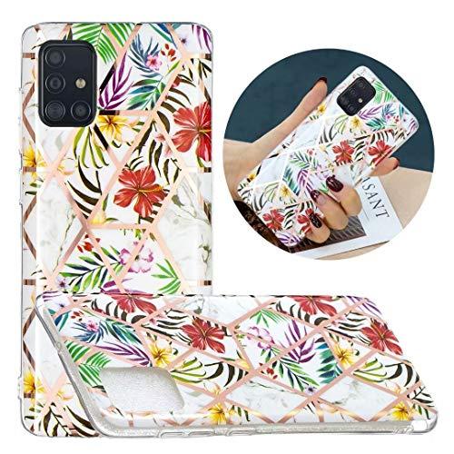 Funda para Samsung Galaxy A42, con purpurina y mármol, híbrida, delgada, a prueba de golpes, flexible, ultrafina, de gel suave, de silicona, para Samsung Galaxy A42, 5G, diseño de mariposa