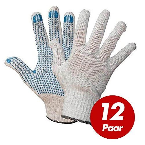 Polyester Strickhandschuhe KORL mit PVC Noppen Arbeitshandschuhe Handschuhe Noppenhandschuhe VPE 12 Paar, Größe:9 (L)