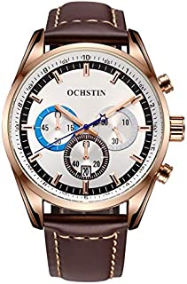 Watch for Men by OCHSTIN, Chronograph, Analog, Leather, Brown, GQ046-BRW