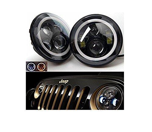 LWD 7inch LED Headlights avec blanc DRL / Amber Turn Signal Blanc DRL Halo Ring