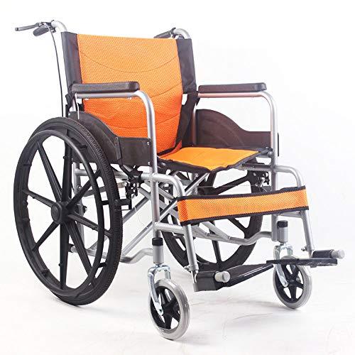 HPDOSHP Rollstuhl faltbar - Rollstühle mit Selbstantrieb - Transportrollstühle Leicht zusammenklappbarer Rollstuhl Medizinische Artikel - Manueller Rollstuhlwagen, Sitzbreite 45 cm,A-04