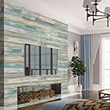Papier Adhesif pour Meuble Bois Papier Peint Adhesif Mural Bleu 45 * 200cm Style...