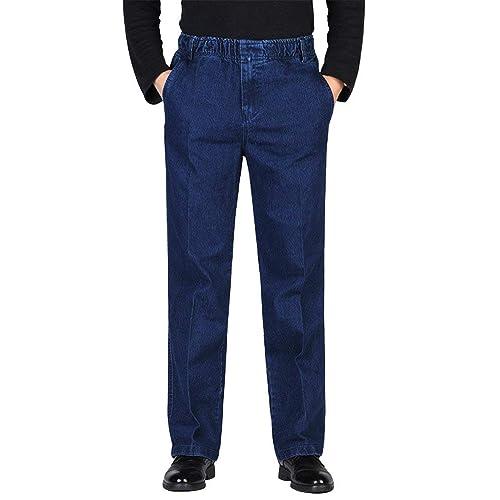 Men S Jeans With Elastic Waist Amazon Com