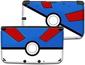 POKEMON GREAT POKEBALL Nintendo 3DS XL Cover Skin Decal Sticker Vinyl Matte Finish (For Old Version Prior 2015)