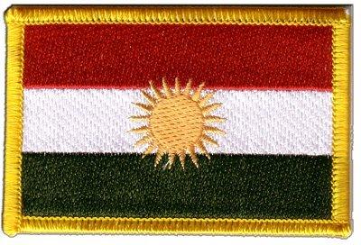 Aufnäher Patch Flagge Kurdistan - 8 x 6 cm