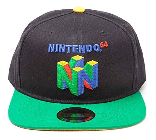Nintendo Baseball Cap N64 Classic Logo Official Black Snapback