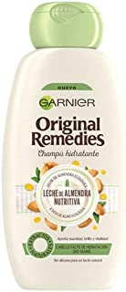 Garnier Original Remedies - Champú Hidratante Leche de Almendra Nutritiva para Pelo Muy Seco y de Uso Diario - 300 ml
