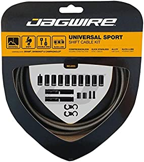 Jagwire Universal Sport Shift Cable Kit 适合 SRAM/Shimano 和 Campagnolo ,碳银色